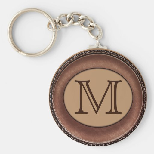 Monogrammed Personalized Keychain for Men