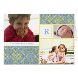 Monogrammed photo card for Easter or any occasion