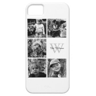 Monogrammed Photo Collage iPhone SE/5/5s Case