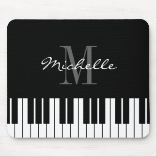 Monogrammed piano keys mouse pad for pianist