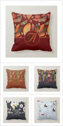 Monogrammed Pillows - Unique Decor