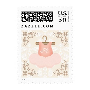 Toddler & Baby themed MONOGRAMMED PINK AND GOLD BALLERINA TUTU POSTAGE