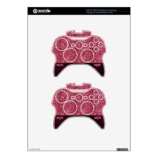 Monogrammed Pink Cheetah Animal Print Xbox 360 Controller Skin
