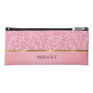 Monogrammed Pink Glitter