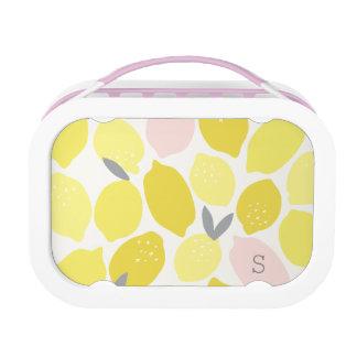 Monogrammed | Pink Lemonade Lunch Box
