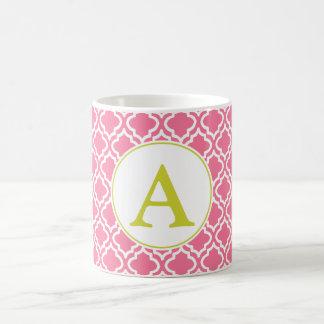 Monogrammed Pink Mug