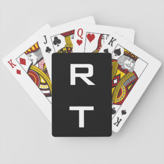 Monogrammed playing cards with modern typography