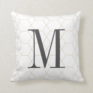 Monogrammed Polymod Throw Pillow