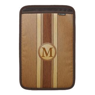 Monogrammed PRINTED faux wood MacBook Air Sleeve