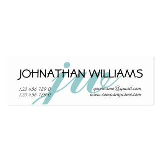 Monogrammed professional blue powder mini business card