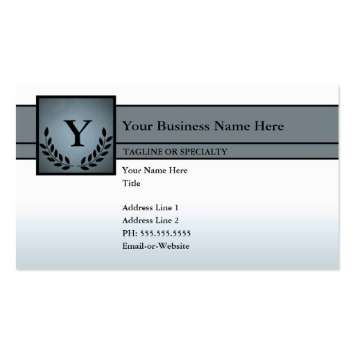 monogrammed professional Double-Sided standard business cards (Pack of 100)
