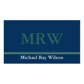 Monogrammed Professional Business Card Template