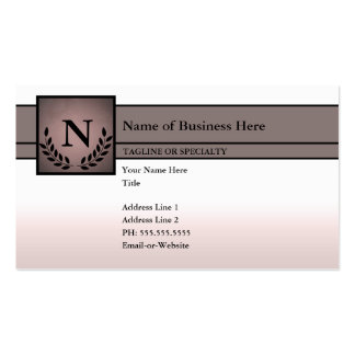 monogrammed professional business card