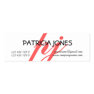 Monogrammed professional freelance consultant mini business card