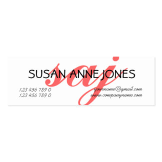 Monogrammed professional initials PERSONALIZE Mini Business Card
