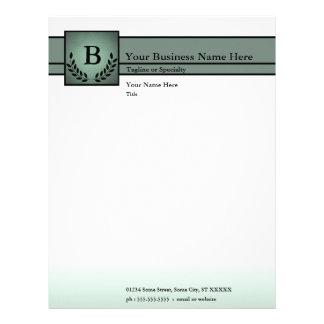 monogrammed professional letterhead