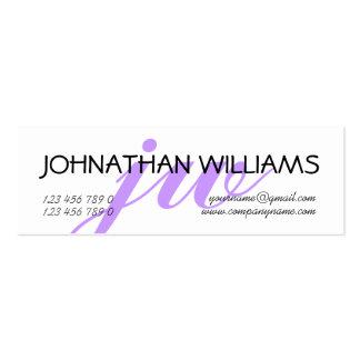 Monogrammed professional purple PERSONALIZE Mini Business Card