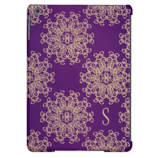 MONOGRAMMED PURPLE AND GOLD INDIAN PRINT COVER FOR iPad AIR