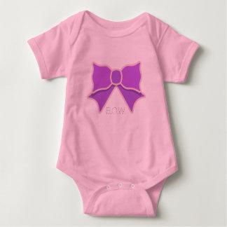 Monogrammed Purple Bow Baby Bodysuit