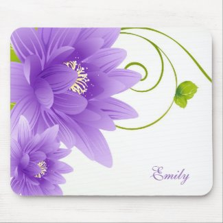 Monogrammed Purple Flowers