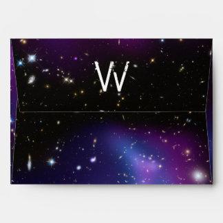 Monogrammed Purple Galaxy Cluster Envelope