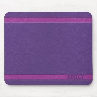 Monogrammed Purple Leather Look