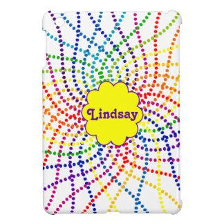 Monogrammed Rainbow Polka Dots Mini iPad Case iPad Mini Cases
