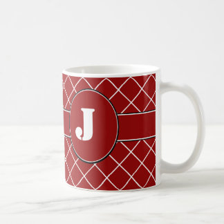 Monogrammed Red Diamond Coffee Mug
