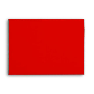 Monogrammed Red Envelope