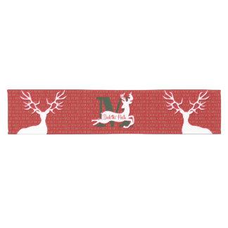 Monogrammed Reindeer | Deck the Halls| Red Short Table Runner