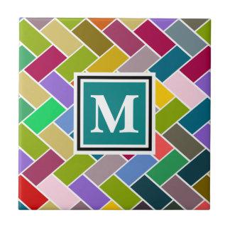 Monogrammed Repeating Brick Pattern