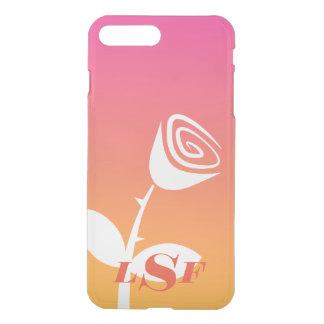 Monogrammed Rose Bud iPhone 8 Plus/7 Plus Case