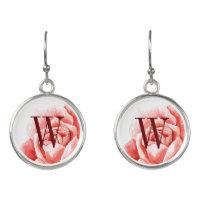 Monogrammed Roses Earrings