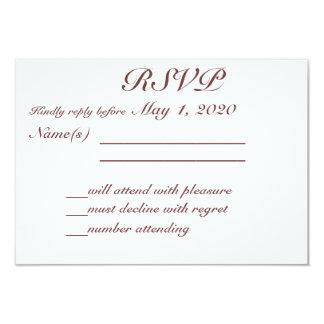 Monogrammed Rustic Wedding RSVP Cards
