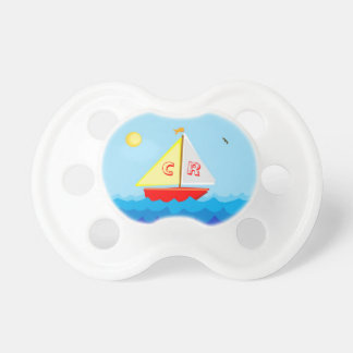 Monogrammed Sailboat Pacifiers