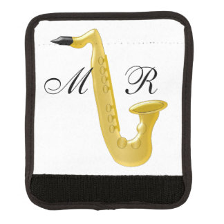 Monogrammed Saxophone Luggage Handle Wrap