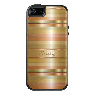 Monogrammed Shades Of Gold And Copper Colors OtterBox iPhone 5/5s/SE Case
