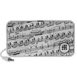 Monogrammed Sheet Music Portable Speaker