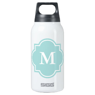 Monogrammed SIGG thermo bottle | Turquoise blue
