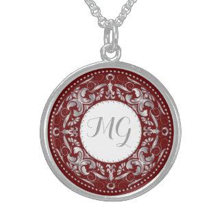 Monogrammed Silver Medallion 1 - Necklace