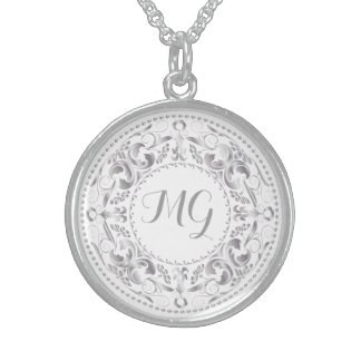 Monogrammed Silver Medallion 3 - Necklace
