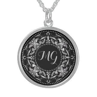 Monogrammed Silver Medallion 4 - Necklace