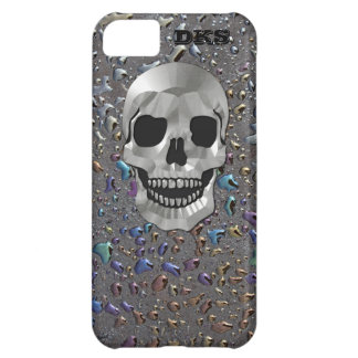 Monogrammed Silver Skull, Oily LOOK iPhone 5C Case