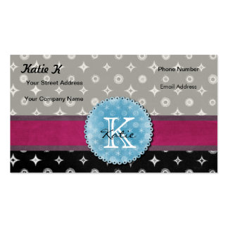 Monogrammed Silver Star Double-Sided Standard Business Cards (Pack Of 100)