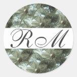 Monogrammed Silver Sticker
