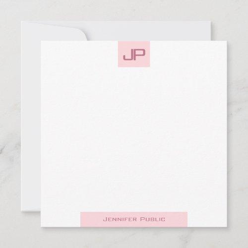 Monogrammed Simple Template Elegant Blush Pink