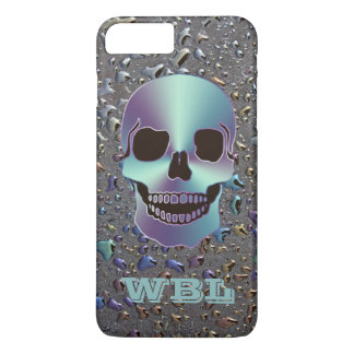 Monogrammed Skull on Oily LOOK iPhone 7 Case