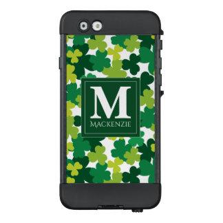 Monogrammed St. Patrick's Day Shamrocks LifeProof NÜÜD iPhone 6 Case