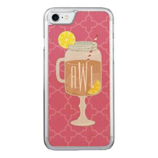 Monogrammed Stemmed Mason Jar of Sweet Tea Carved iPhone 7 Case