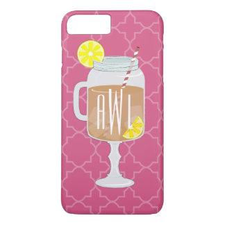 Monogrammed Stemmed Mason Jar of Sweet Tea iPhone 7 Plus Case